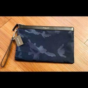 Michael Kors Unisex camouflage travel pouch